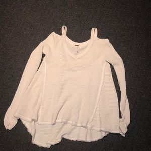 free people super cute v neck cut out sweater
